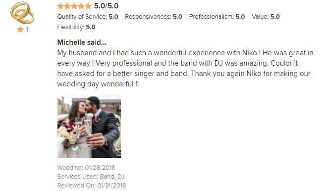 Michelle's & John's Wedding Review | Greek Wedding Orchestra