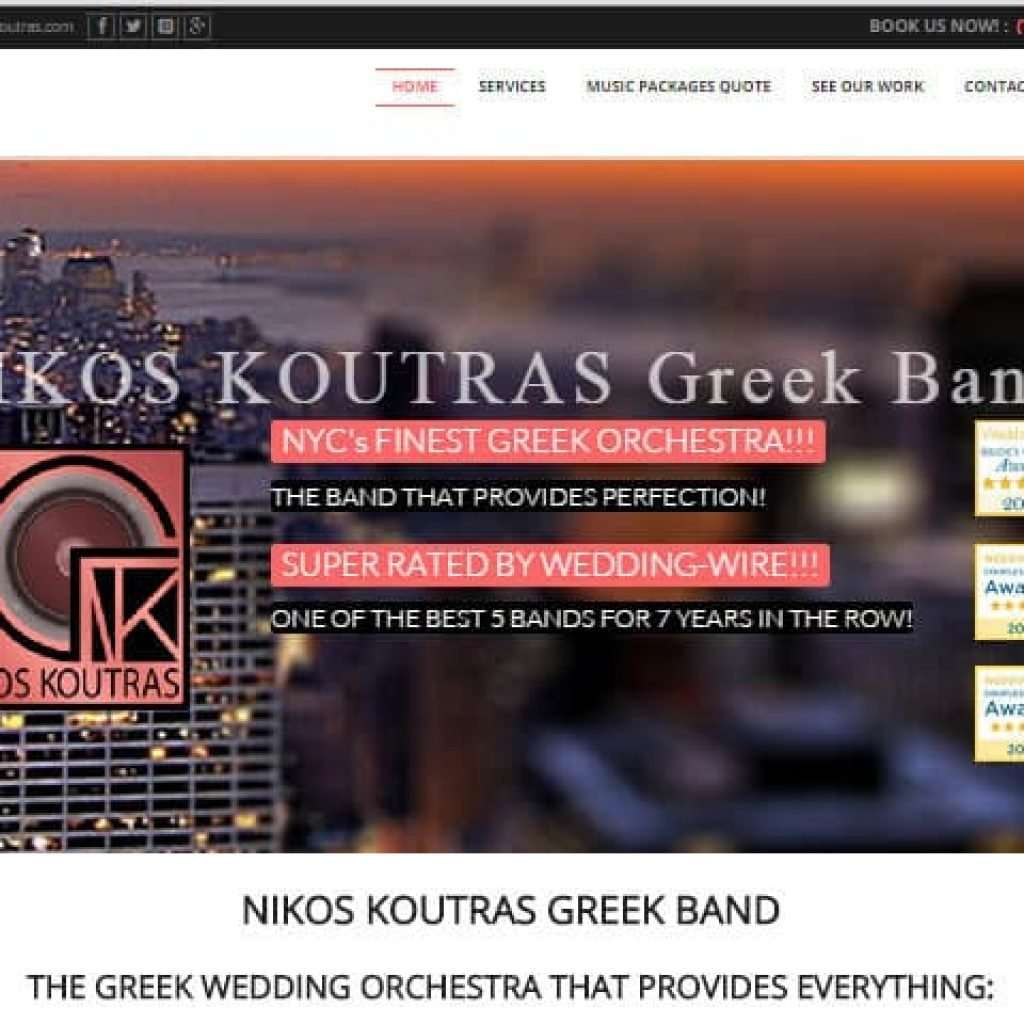 Nikos Koutras Greek Band New Site